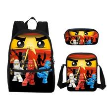 VEEVANV Small Canvas School Bags Lego Ninjago Children Cartoon Printing Bookbag Fashion Laptop Backpacks Boys Shoulder Bags Kids