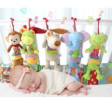 Baby Boys girls plush doll stuffed toys for Children pram stroller bed bell toy infant hanging toys brinquedos LF148