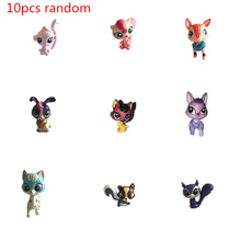 LPS 10Pcs/Lot Little Pet Shop Mini Figures Animal Cat Dog Patrulla Canina Action Figures Kids Toys Xmas Gift
