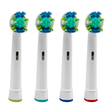 4Pcs EB-25A Model Electric Toothbrush Head Replacement Tooth Brush Heads Cleaning Tool for Braun Oral-B D4510/D12013/D12013W BB