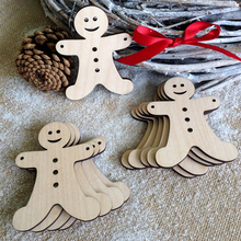 5pcs/lot Cute Gingerbread Man Wooden Laser Hollow Hanging Ornaments For Christmas Tree Home Party Decorative Crafts