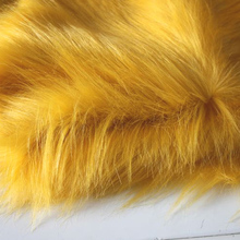 "Golden Yellow Solid Shaggy Faux Fur Fabric (long Pile fur) Costumes Cosplay 36""x60"" Sold By The Yard Free Shipping(China)"