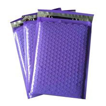 Plastic Poly Bubble Mailer Padded Mailing Bags/ Purple Color Superior Cushioning Strong Shockproof Courier Envelope Pouchs Mail