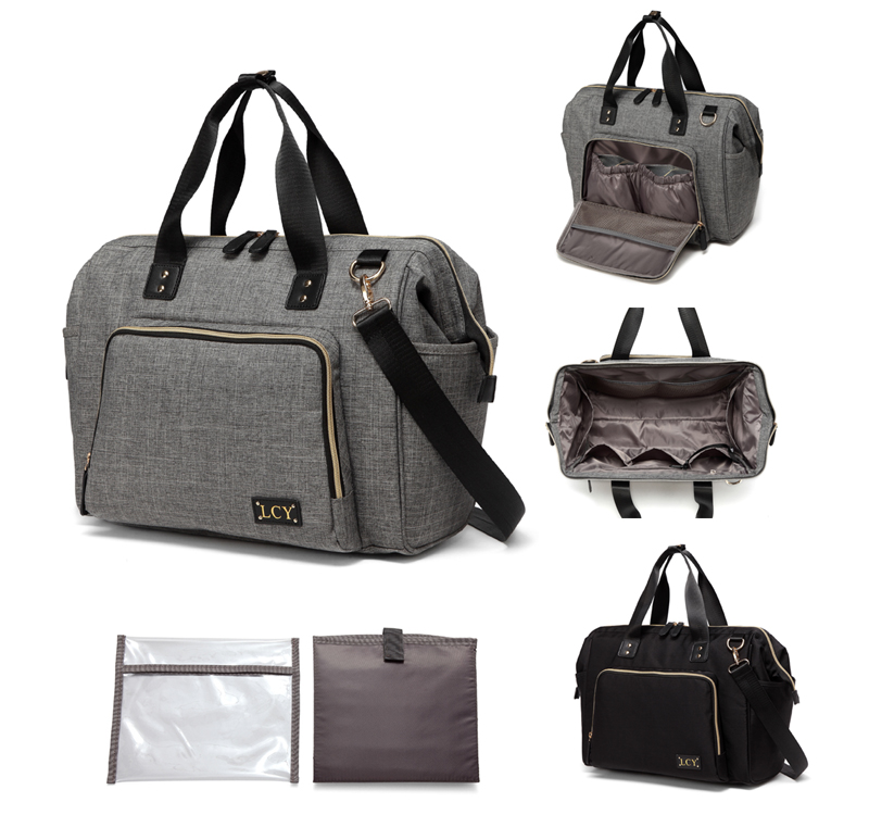 Large Multi-function Unisex Messenger Baby Diaper Bag Nappy Changing Bag+Changing Pad--AMB369<br>