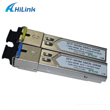 ahilnk 10pairs a lot! Compatible Simplex LC/SC Connector 1.25G WDM SFP 20KM 1000Base BIDI SFP DDM 1310/1550(China)
