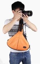 Waterproof Triangle SS16-1 DSLR SLR Camera Case Bag Nikon CANON SONY FUJI PENTAX OLYMPUS LEICA Orange