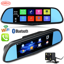 Udrive 7 inch Android GPS Navigation DVR Video Recorder Full HD 1080P Bluetooth Phone WiFi Dual Camera Rear View Mirror 16G DVR