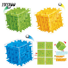 YNYNOO New Maze Magic Cube 3D Puzzle Mini Speed Cube Labyrinth Rolling Ball Toys Puzzle Game Cubos Magicos Learning Toys For Kid