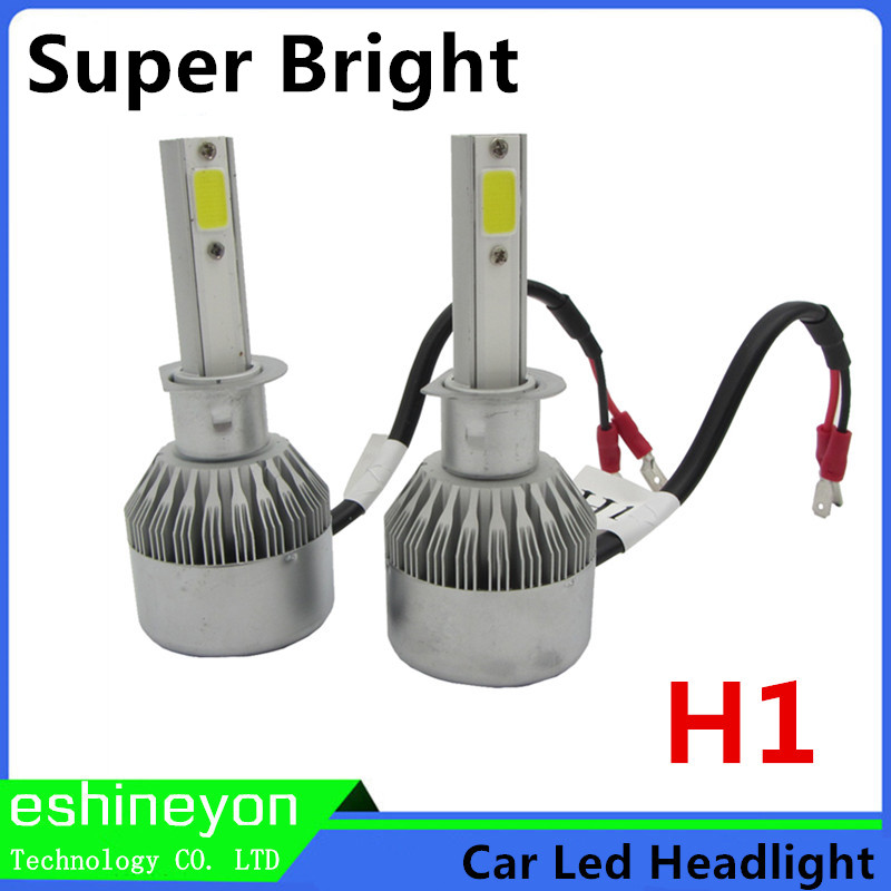 Hot New 2X55W 9200LM COB Chips Car Led Headlight Conversion Kit  Auto Front Light H1 Replace For Halogen/HID Bulbs Super Bright<br><br>Aliexpress
