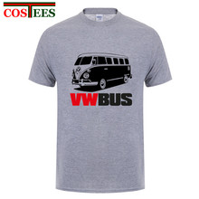 Vintage VW BUS T Shirt Men 2018 New arrival Summer Crew Neck Short Sleeve Das Auto Man Brand Clothing Fashion Volkswagen T-Shirt(China)