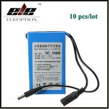 10x Eleoption DC12400 DC 12V 4000mAh for Super Protable Rechargeable Switch Li-ion Battery Pack With Plug(China)