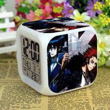 Anime K project Suoh Mikoto Munakata Reisi 7 Color Change Digital Alarm Clock k8(China)