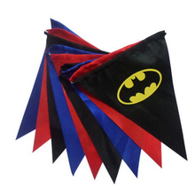 superhero batman batgirl children birthday party wedding decorations pennant flag banner christmas retail(China)