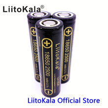 3x HK LiitoKala Lii-25A for Samsung 3.6V 18650 2500mAh INR18650-25R Li-ion Battery Max 20A 35A Discharge Electronic Cigarette
