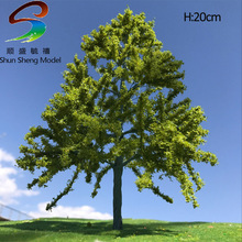 1pcs H:20cm Scale Model Wire Yellow Green Tree For Train Layout Set Model Scale Trees for Z Scale(China)