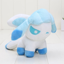 13cm Pocket doll Glaceon Plush toy Toys Soft Stuffed Anime Cartoon Dolls(China)