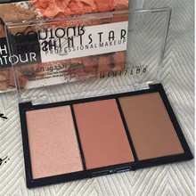 Ministar Brand 2017 New Face Contouring Cosmetics Brighten Highlighter Glow Mineral Powder Bronzer Blush Contour Makeup(China)