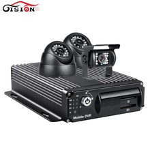 Gision Car Video Recorder For Bus Wifi Real Time Surveillance 4CH Wifi Mobile Car Dvr Kits IR Night Vision CCTV Carmera Mdvr