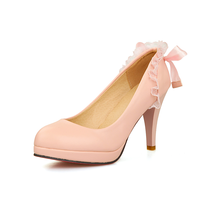 Onlytruelove New Spring Women Shoes Pointed Toe Pumps Patent Leather Dress Shoes Bowknot 9cm High Heels Boat Shoes Wedding Shoes<br><br>Aliexpress