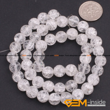 "Round Crackle Rock Quartzs Beads DIY Beads For Jewelry Making Beads Wholesale!Strand 15"" Free Shipping Free Shipping(China)"