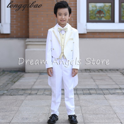 Children tuxedo boys suits wedding flower girl dress dress small host a piano performance clothing