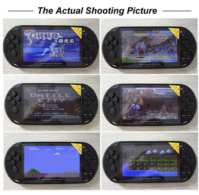 New 5.0 Large Screen Classic Game for GBA/NES Handheld Game Player Support TV Out With MP3/Movie Camera Video Game Console