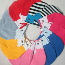 CN-RUBR Spring Autumn Baby Hat Cotton Warm Beanie Caps For Boy Girl I Love MOM DAD Printed Kids Hats Accessories 1-3 Years