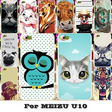 Soft TPU Hard Plastic Phone Cases Meizu Meilan U10 U680H Housing Covers Bags Cat Tiger Hood Shell - WEE store
