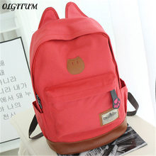 a8000cc9f1af 2019 Hot Sales Campus Girls Backpack Women Travel Bag Young Men Canvas  Backpack fashion school Bags