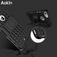 Aokin Shockproof Case For iPhone 7 7plus Silicone Rugged Hybrid Armored Protector for iPhone Case Hard Impact Stand Hard Cover