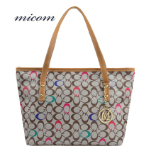 Micom Fashion Women Shoulder Bags Designer High Quality Printing Bag Brand Leather Handbags 2017 New Lady Casual Big Tote Female