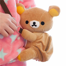 Cartoon Rilakkuma Bear Oblique satchel plush across the purse Crown pig wallet Stitch Zero wallet Winnie the pooh plush purse(China)