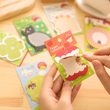 4 Pcs/lot Cute Kawaii Korean Stationary School Supplies Apple Cat Animal Stickers Post It Notes Sticky Notes Paper Memo Pad