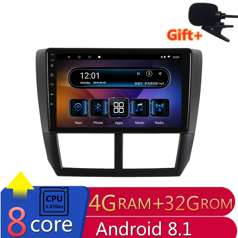"9"" 4G RAM 8 cores Android Car DVD GPS Navigation For Subaru Forester 2008 2009 2010-2012 audio stereo car radio headunit wifi"