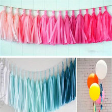 5pcs Colorful Tissue Garlands Bunting Ballroom Paper Tassels Wedding Party Decor