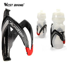 WEST BIKING MTB Bicycle Cycling Carbon Fibre Color Mountain Road Bike Water Bottle Holder Cages Outdoor Cycling Water Bottles