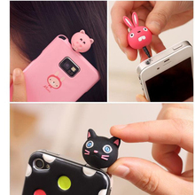 Animal Cat Headset Anti Dust Plug for Cell Phone Cute Anime Ear Jack Earphone Cap 3.5mm for Iphone for Htc Any 3.5mm Phone Hole(China)
