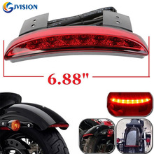 12V Chopped Fender Edge LED motorbike Tail Light For Harley Iron Sportster XL883 1200 Red Lens (for Harley Davidson)(China)