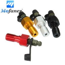 M10x1.25mm Motorcycle Brake Braking Caliper Bleed Screw Nipple Dust Cap Washer Red Gold Black Silver