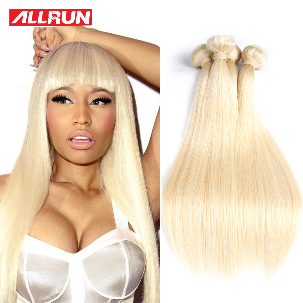 7A Quality  613 Blonde Virgin Hair Straight 4 Bundles Blonde Brazilian Hair Platinum Blonde Virgin Hair Human Hair Extensions<br><br>Aliexpress