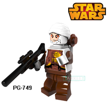 Educational Blocks Dengar Bounty Hunter Yoda Darth vader Super Heroes Star Wars Model Bricks Kids DIY Toys Hobbies PG749 Figures