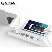 ORICO Surge Protector 4 AC + 4 USB Charger 3200W 4 USB Charging Port Power Socket Surge Protector For Tablets PC