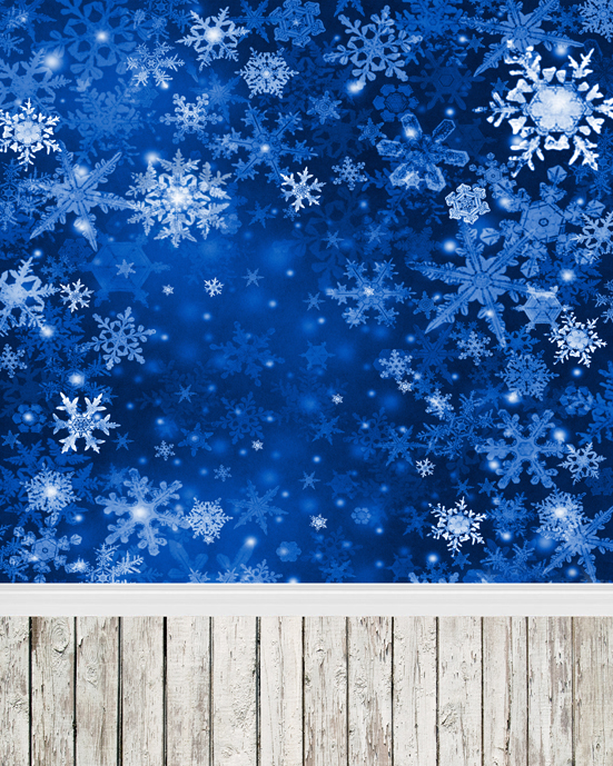10ft customize blue snowflake Christmas photography backdrops photographic vinyl digital for photo studio backgrounds L-884<br>
