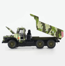 Collectible 1:32 Scale Military Diecast Truck Model & light sound Army Green Alloy Military Dumpers Acousto-optic Toys Model(China)
