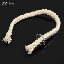 KiWarm 20cm Dia. 5mm High Quality Round Cotton Wick with Glass Holders For Glass Bottle Lamps Kerosene Stove Oil Lamps Wicks