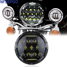 "NFSEPGO 7"" motorcycle H4 Led Headlight Bulbs with Hi/Low beam Projector Car Headlight Manufacturer Kits  for Harley Davidson"