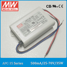 Original Meanwell LED driver APC-35-500 single output 35W 25~70V 500mA Meanwell LED power supply APC-35