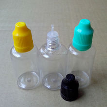 50ml Empty Clear Bottle PET Hard Plastic Dropper Bottle With Childproof Cap Long Tip For Eye Drop E-liquid Bottles