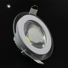 LED Downlight COB Dimmable 7W 10W 12W 15W 20W 30W LED COB Panel Light AC85-265V Recessed COB Downlight Glass Cover LED Spot bulb
