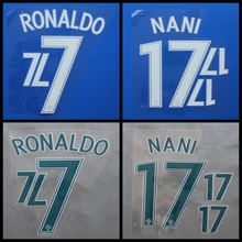 New Portugal EDER NANI RONALDO football number name font print, Hot stamping Soccer patches badges